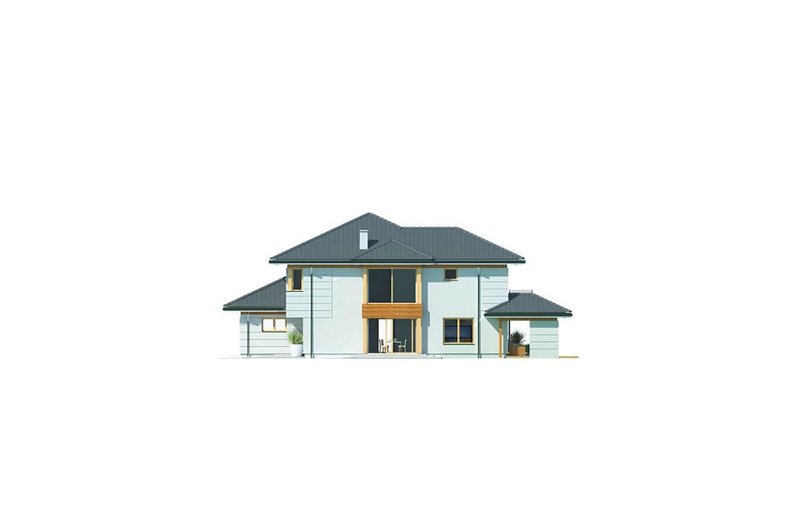 Projekt domu jednorodzinnego Carmen Grande elewacja lewa