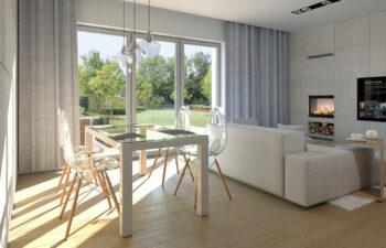Projekt domu Diament A wnętrze salon