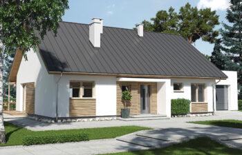 Projekt domu jednorodzinnego Diament A widok front