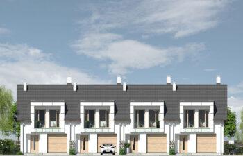 Projekt domu szeregowego, bliźniaczego Diana 2 - elewacja front2