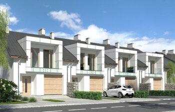 Projekt domu szeregowego, bliźniaczego Diana 2 widok front 2