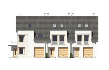 Projekt domu szeregowego-bliźniaczego Diana A elewacja front