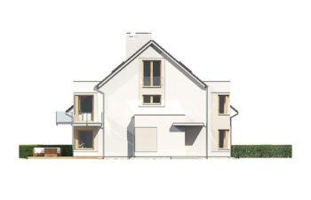 Projekt domu szeregowego-bliźniaczego Diana A elewacja lewa