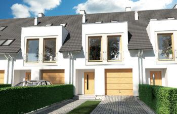 Projekt domu szeregowego-bliźniaczego Diana A widok front