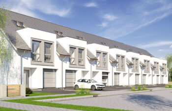 Projekt domu szeregowego-bliźniaczego Diana A widok front 1.1.