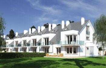 Projekt domu szeregowego-bliźniaczego Diana A widok ogród2