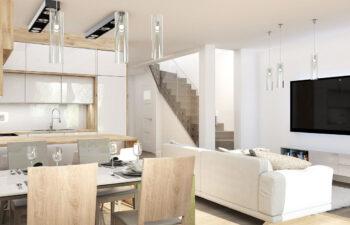 Projekt domu szeregowego-bliźniaczego Diana A wnętrze parter 2