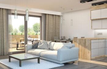 Projekt domu szeregowego-bliźniaczego Diana A wnętrze salon2