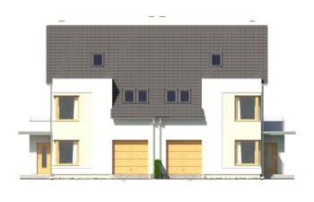 Projekt domu bliźniaczego Diana Grande A,B bliźniak elewacja front