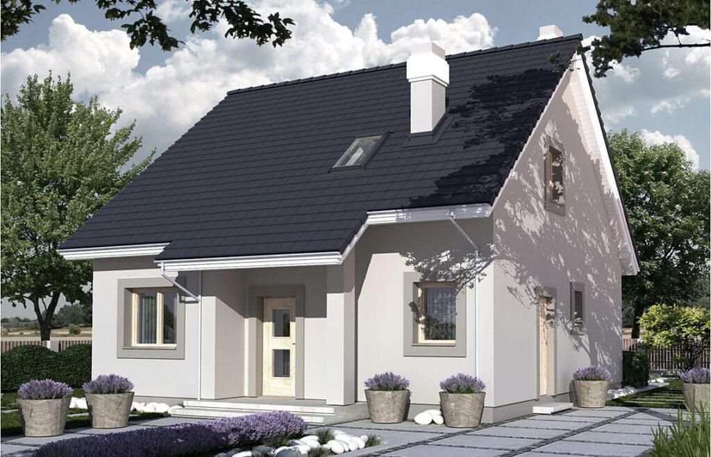 Projekt domu jednorodzinnego Dom dla Młodych widok front