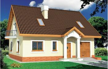 Projekt domu jednorodzinnego Ewa 2A widok front