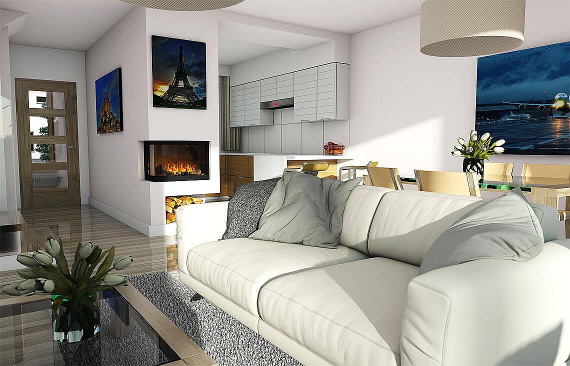 Projekt domu Elena A wnętrze 4