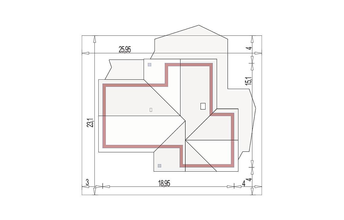 Projekt domu Evita Optima A sytuacja