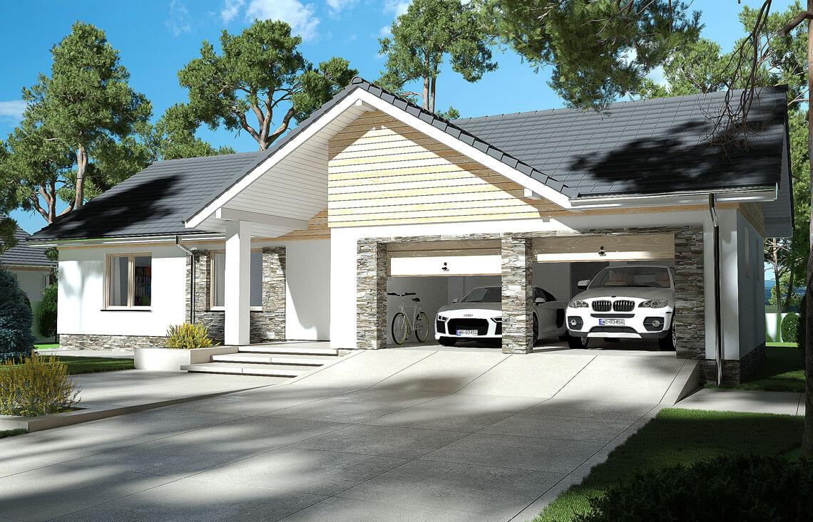 Projekt domu jednorodzinnego Evita Optima Lux widok front