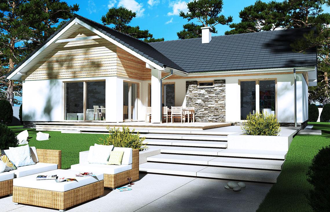 Projekt domu Evita Optima A ogród 1
