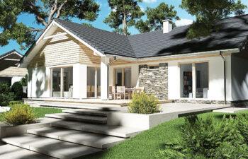 Projekt domu Evita Optima A ogród 2