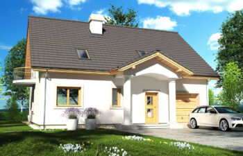 Projekt domu jednorodzinnego Ewa Lux 2A widok front