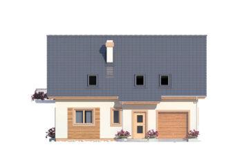 Projekt domu Ewa A elewacja front