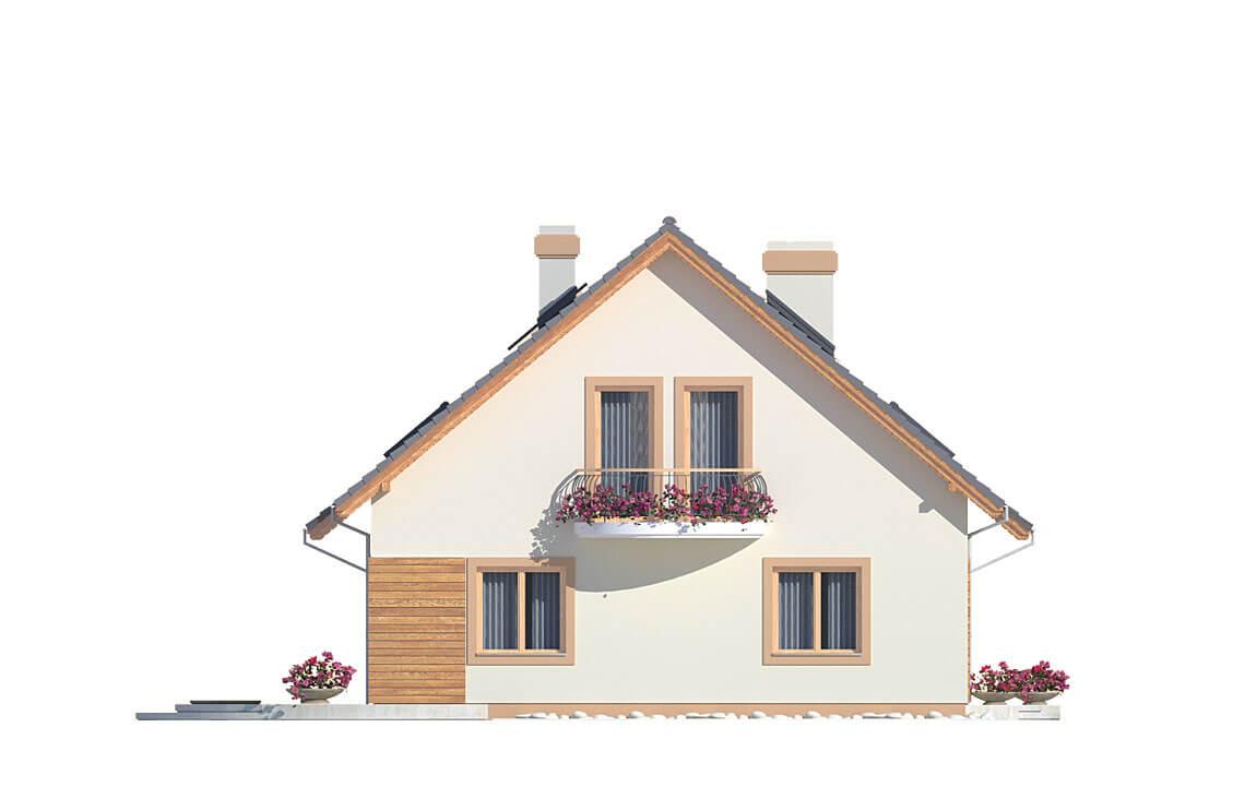 Projekt domu Ewa A elewacja lewa