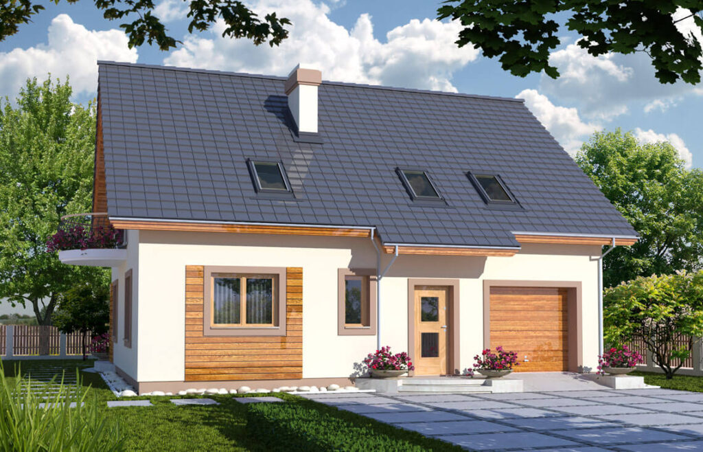 Projekt domu Ewa Awidok front