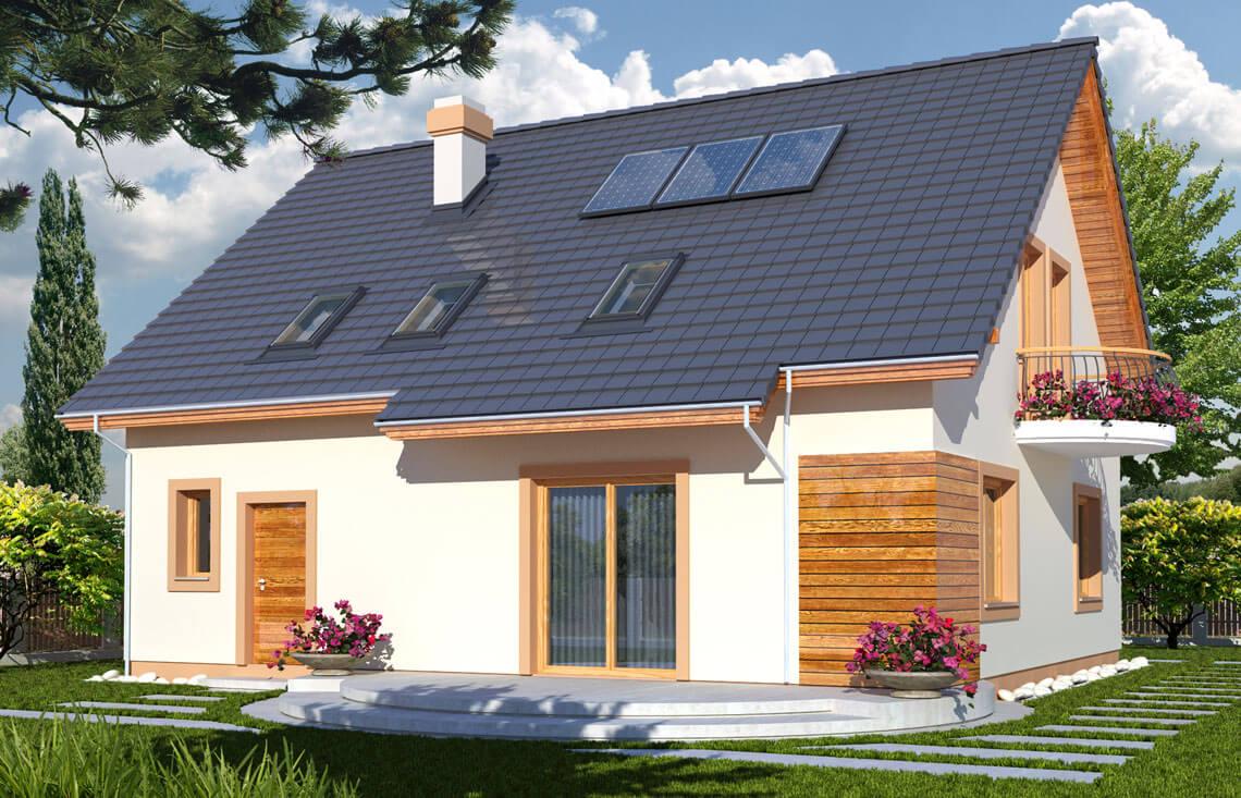 Projekt domu Ewa A ogród