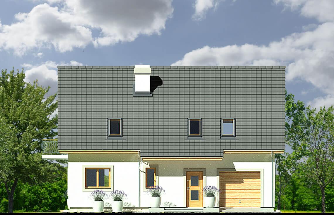Projekt domu Ewa LUX elewacja front