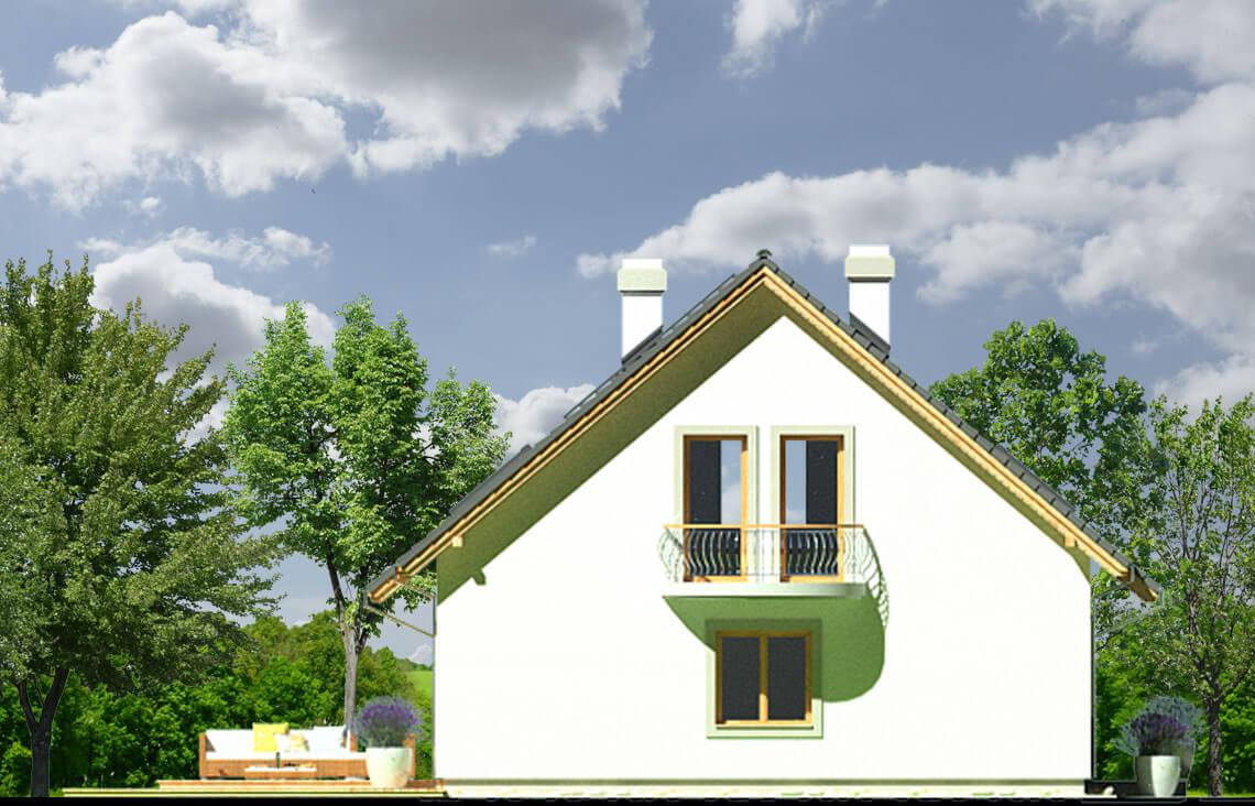 Projekt domu Ewa LUX elewacja lewa