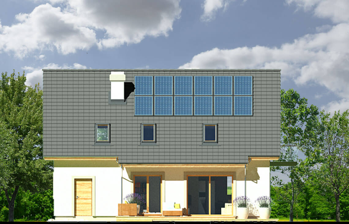 Projekt domu Ewa LUX elewacja ogród