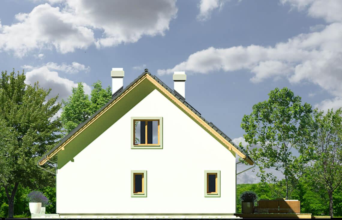 Projekt domu Ewa LUX elewacja prawa
