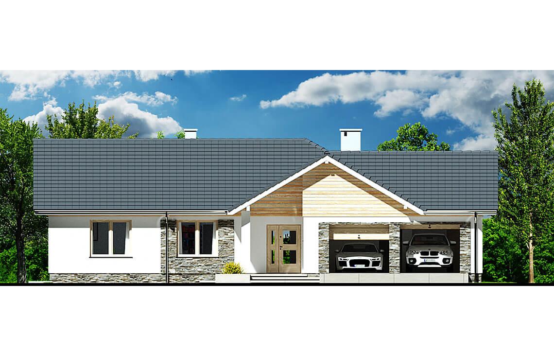 Projekt domu Evita Optima A elewacja front
