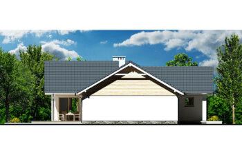 Projekt domu Evita Optima A elewacja lewa