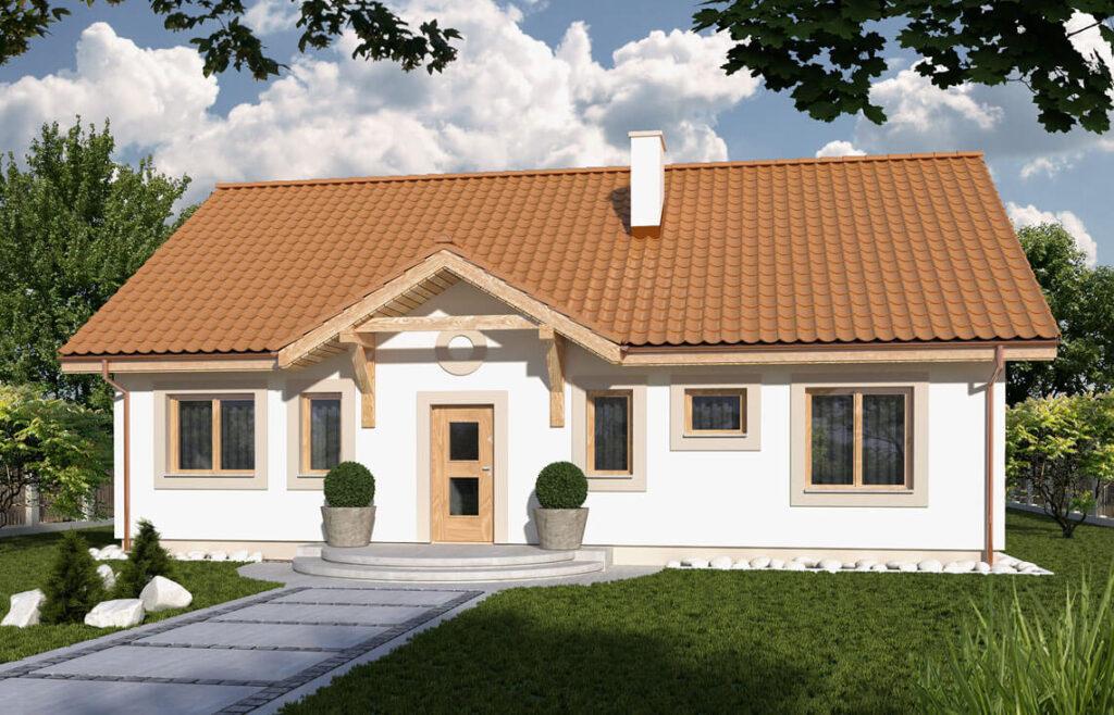 Projekt domu jednorodzinnego Gienia 2A widok front