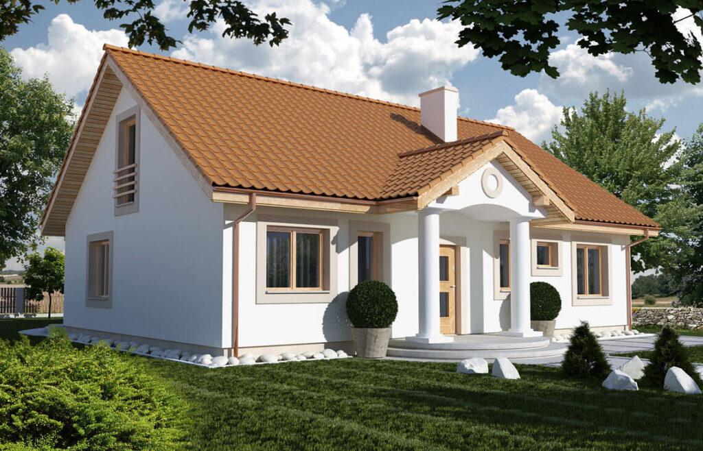 Projekt domu jednorodzinnego Gienia 2 Klasyk Awidok front