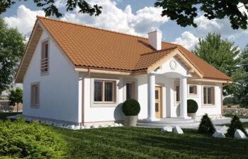 Projekt domu jednorodzinnego Gienia 2 Klasyk A widok front