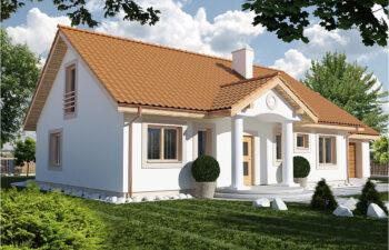 Projekt domu jednorodzinnego Gienia 2 Klasyk widok front