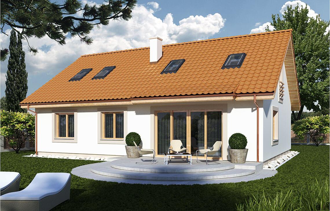 Projekt domu jednorodzinnego Gienia 2 Klasyk widok ogród
