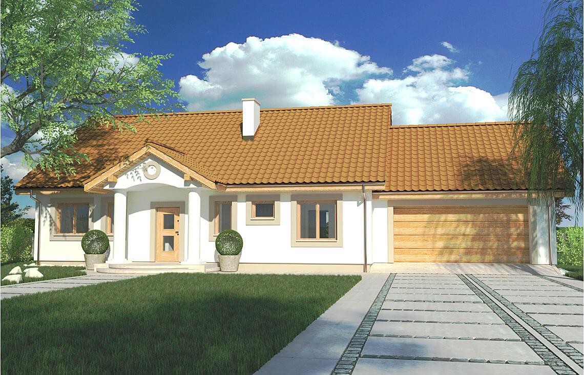 Projekt domu jednorodzinnego Gienia 2 Klasyk C widok front