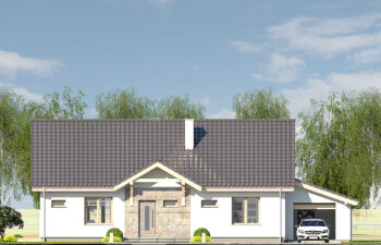 Projekt domu jednorodzinnego Gienia B,D elewacja front