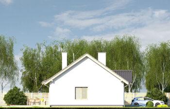 Projekt domu jednorodzinnego Gienia B,D elewacja lewa