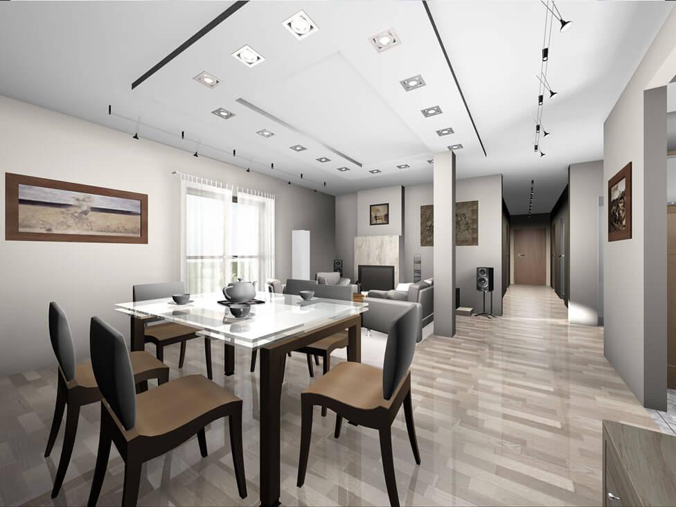 Projekt domu jednorodzinnego Gienia wnętrze 1