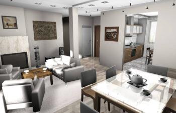 Projekt domu jednorodzinnego Gienia wnętrze 2