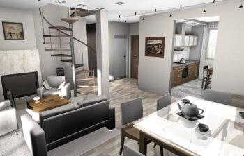 Projekt domu jednorodzinnego Gienia wnętrze 3
