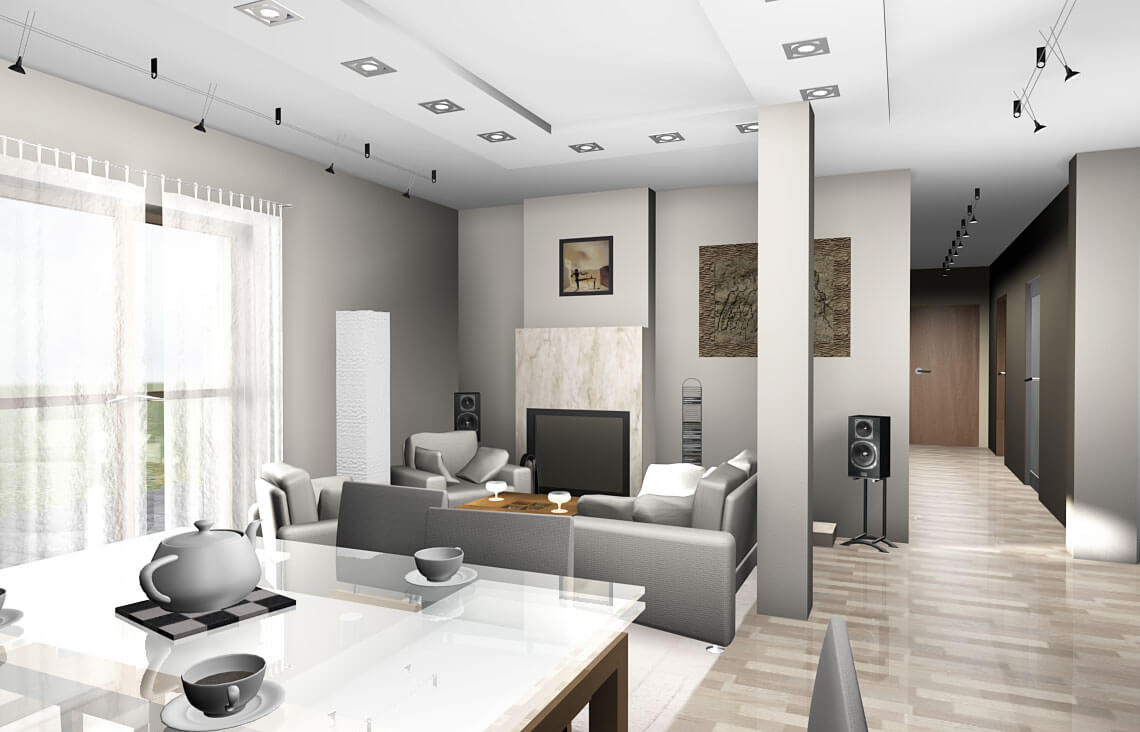 Projekt domu jednorodzinnego Gienia wnętrze 4