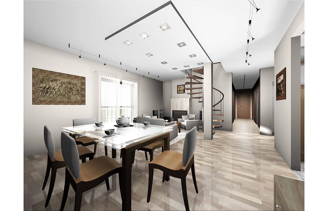 Projekt domu jednorodzinnego Gienia wnętrze 7