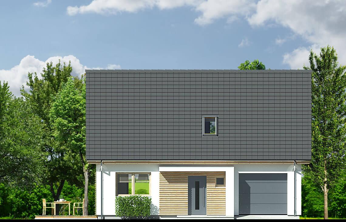 Projekt domu Harmonia Nova A elewacja front