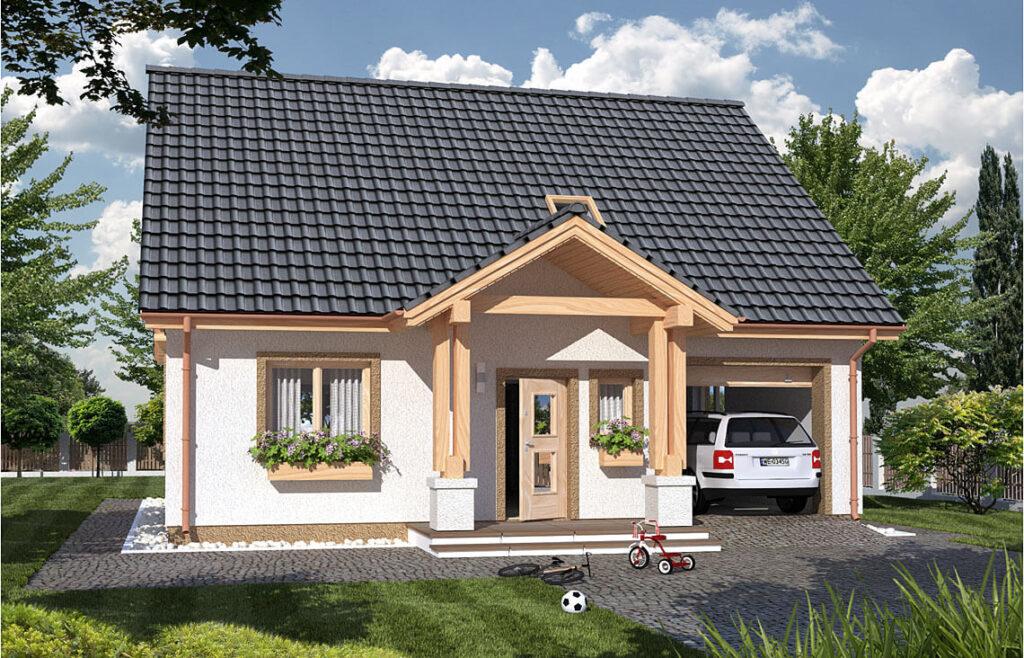 Projekt domu jednorodzinnego Harmonia Awidok front