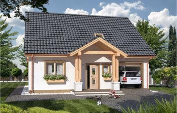 Projekt domu jednorodzinnego Harmonia A widok front