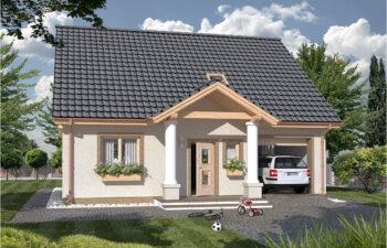 Projekt domu jednorodzinnego Harmonia Dworek A widok front