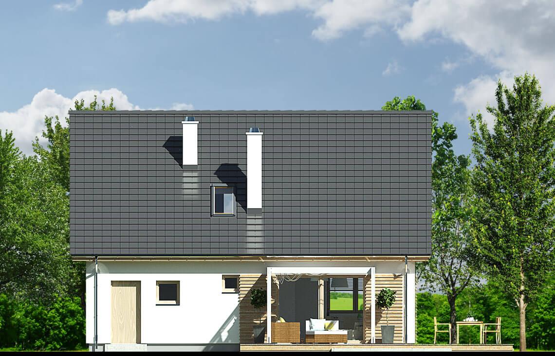 Projekt domu Harmonia Nova A elewacja ogród