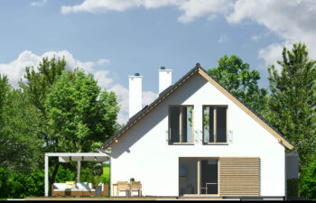 Projekt domu Harmonia Nova A elewacja lewa